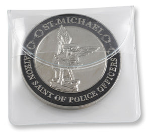 Silver St Michael Patron Saint of Police Officers Coin with Prayer