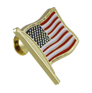 US Flag Lapel Pin With Jeweler's Clutch Patriotic American Symbol