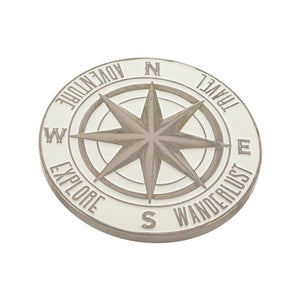 Adventure Wanderlust Compass Enamel Pin