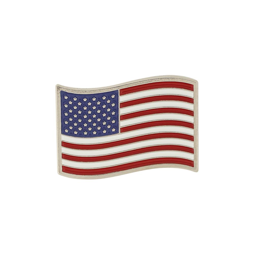 Waving USA American Flag Lapel Pin