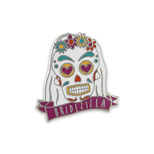 Wedding Favor Bridezilla Hard Enamel Lapel Pin