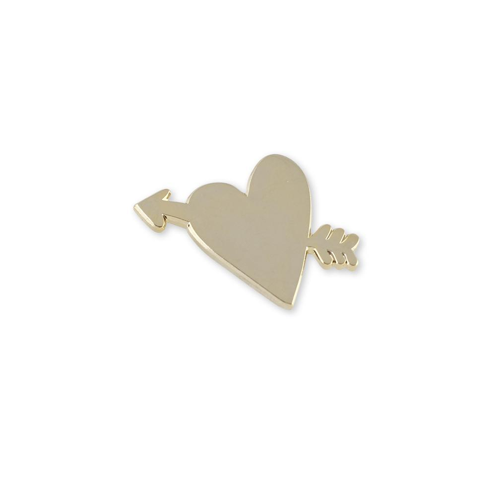 Wedding Favor Cupid Arrow & Heart Hard Enamel Lapel Pin