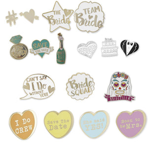 Wedding Favor Hard Enamel Lapel Pins
