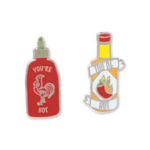 You're Hot Sauces Lapel Pin Set
