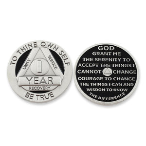 1 Year Sobriety Silver Coin