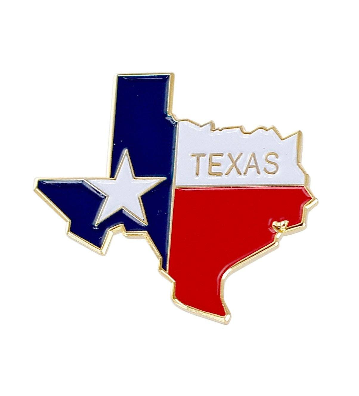 State Shape of Texas and Texas Flag Lapel Pin