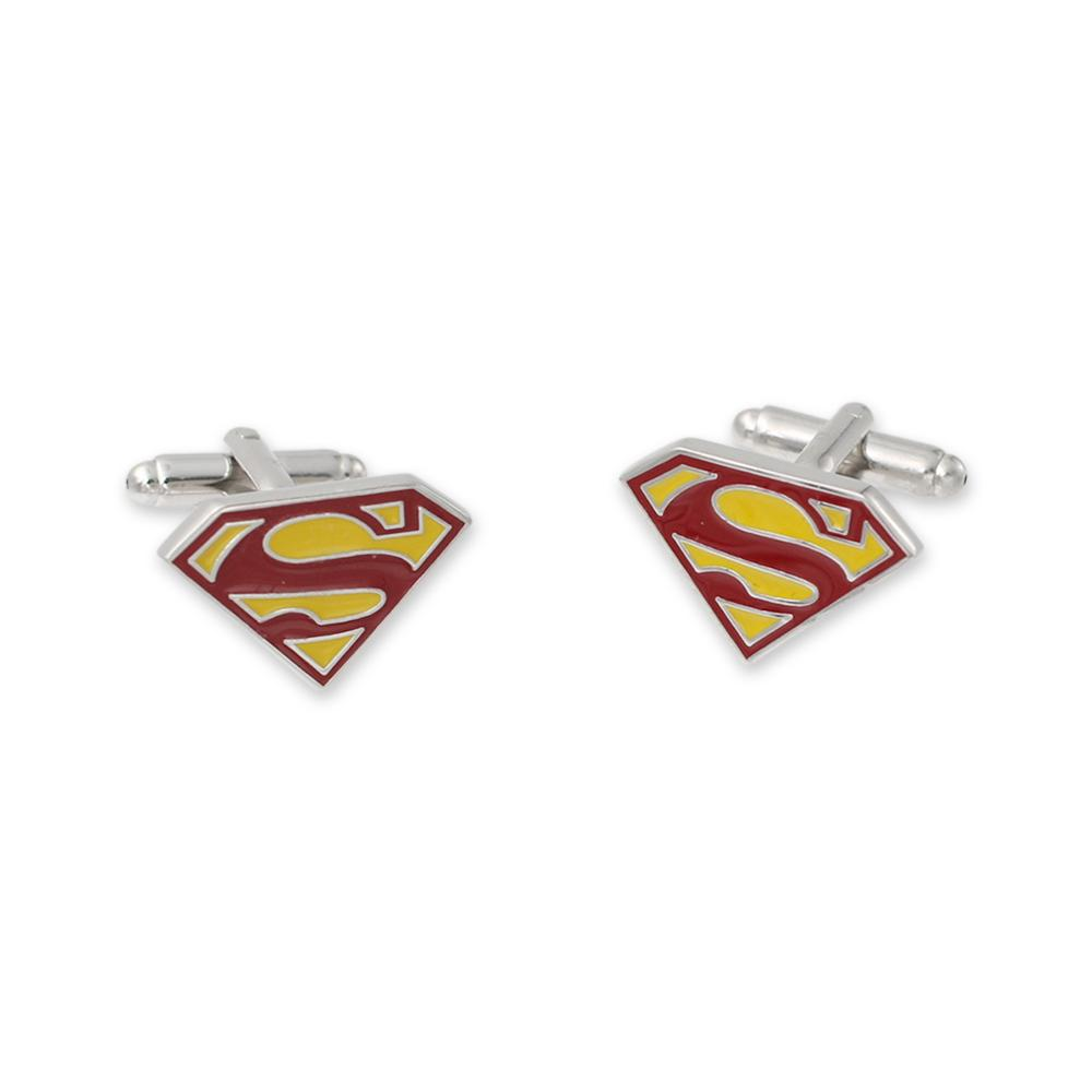 Diecut superhero custom cufflinks for wedding suits
