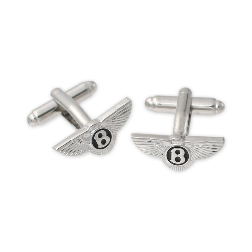 Custom diecut silver cufflinks for suits