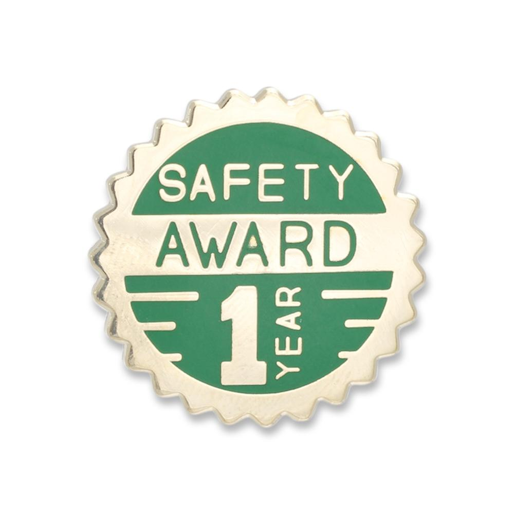 Safety Award Lapel Pin Year of Service Enamel Pin Made in USA