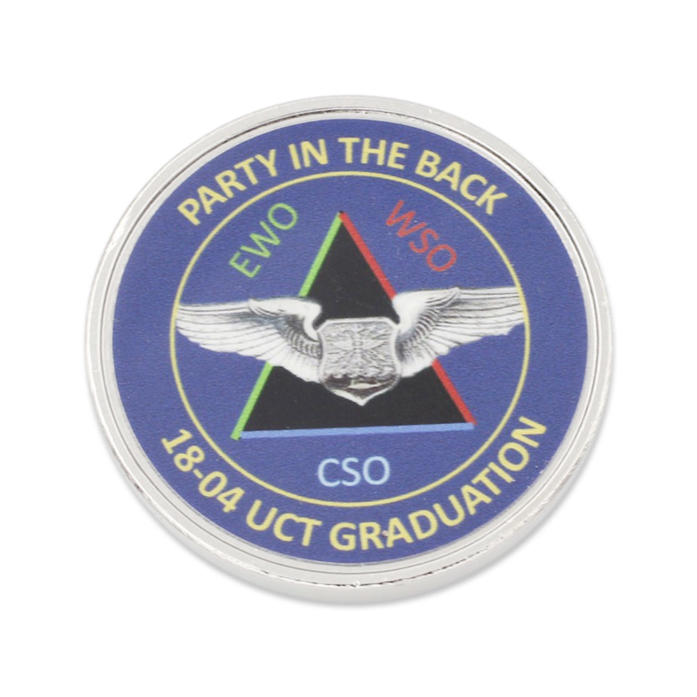 custom coin for graduation printed and made in usa