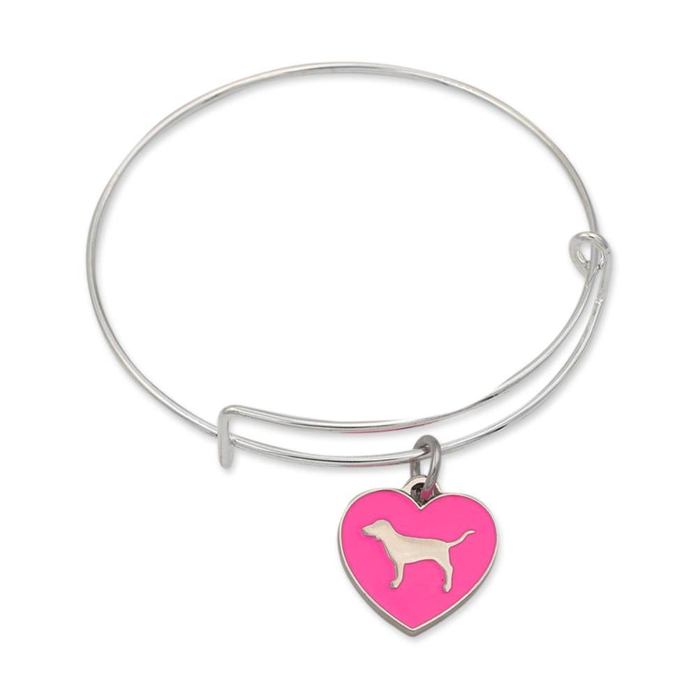 Custom Heart Dog Charm Bracelet