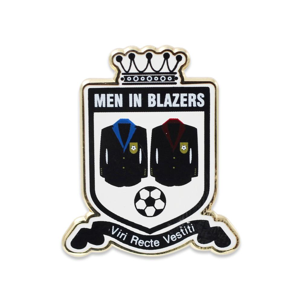 Men In Blazers Patch Enamel Pin Custom Viri Recte Vestiti