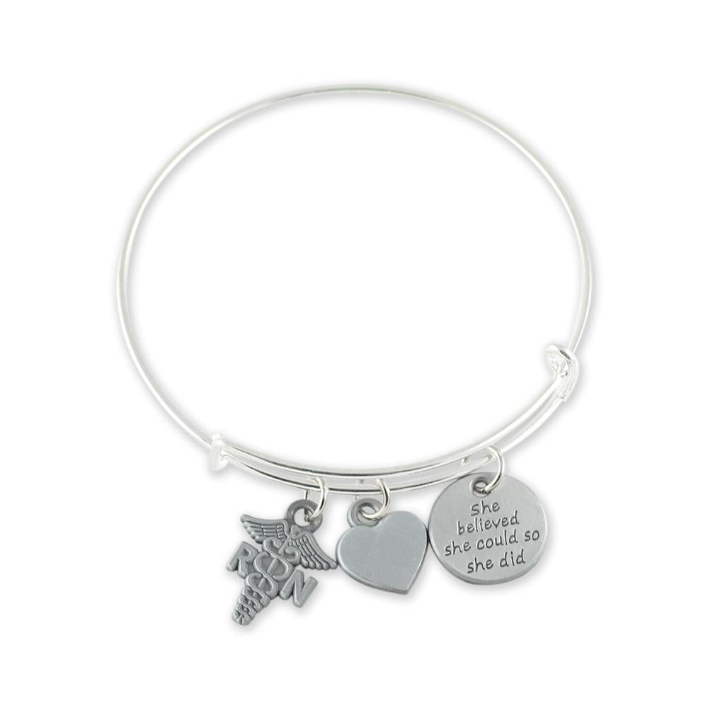 Custom Nursing Charm Bracelet Medical Professional Gift