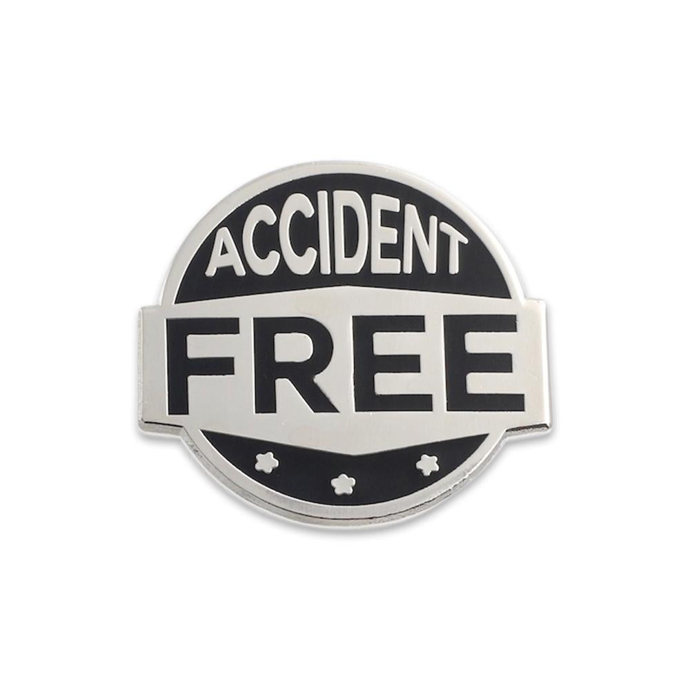 Accident Free Sterling Silver Lapel Pin Custom Pin