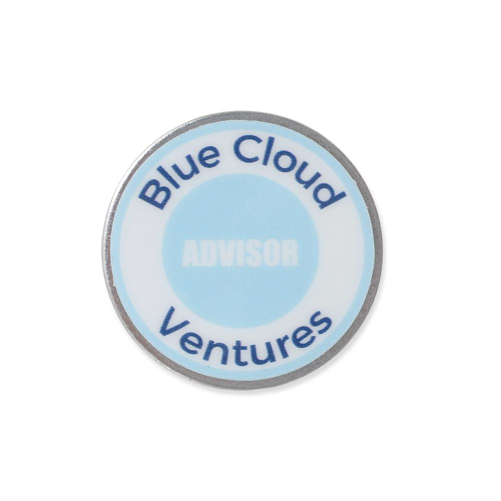 venture capital advisor custom design printed on usa stainless steel lapel pin