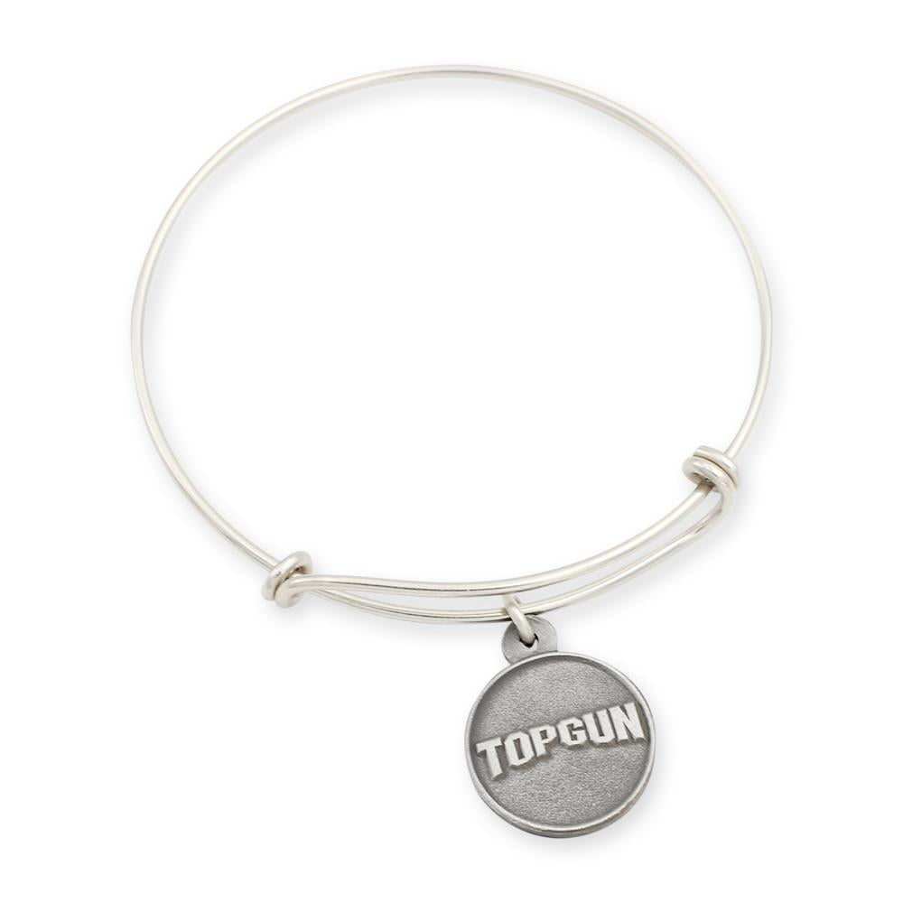 Top Gun charm and bracelet shiny silver look