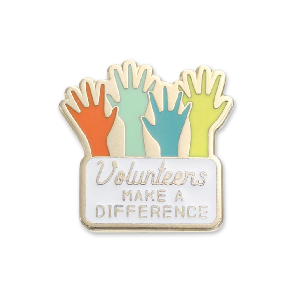 Volunteer Enamel Lapel Pins Made in USA Custom Pin