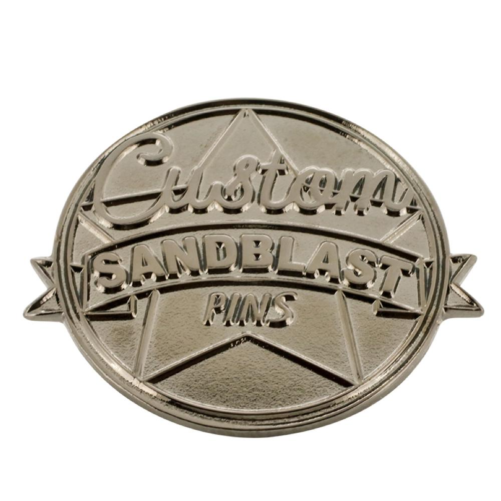 Custom Sand Blast Polish Diestruck Lapel Pin