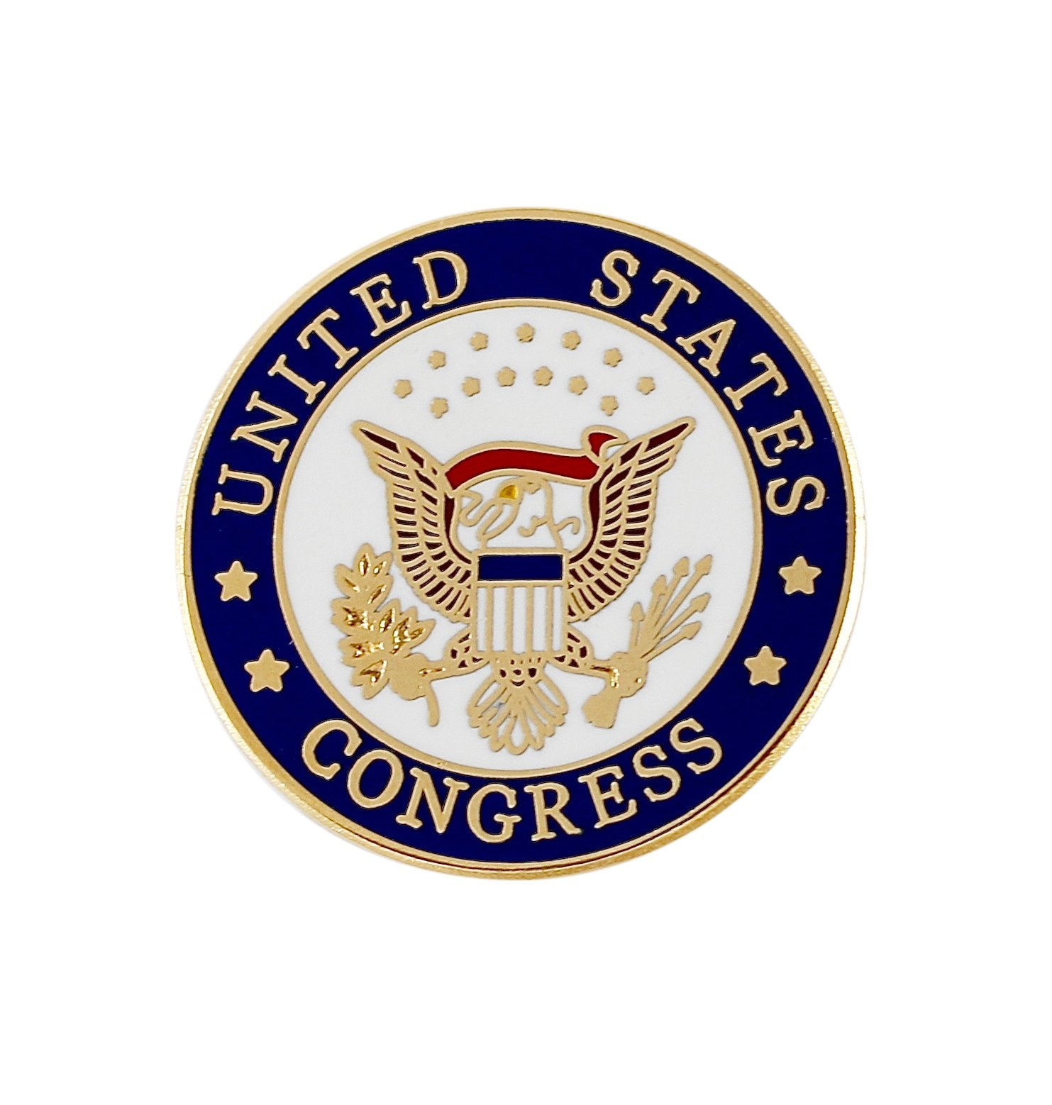 United States Congress Enamel Lapel Pin