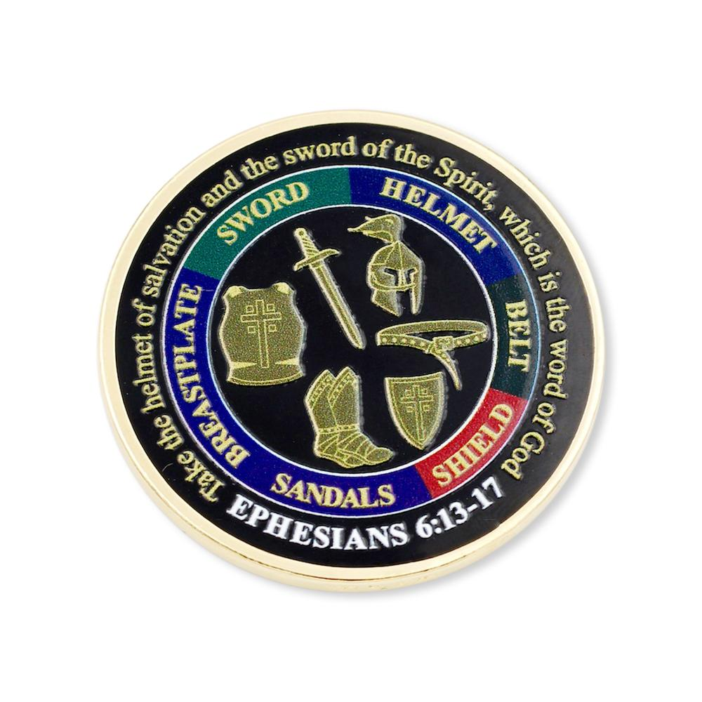 Ephesians custom printed challenge coin made in usa