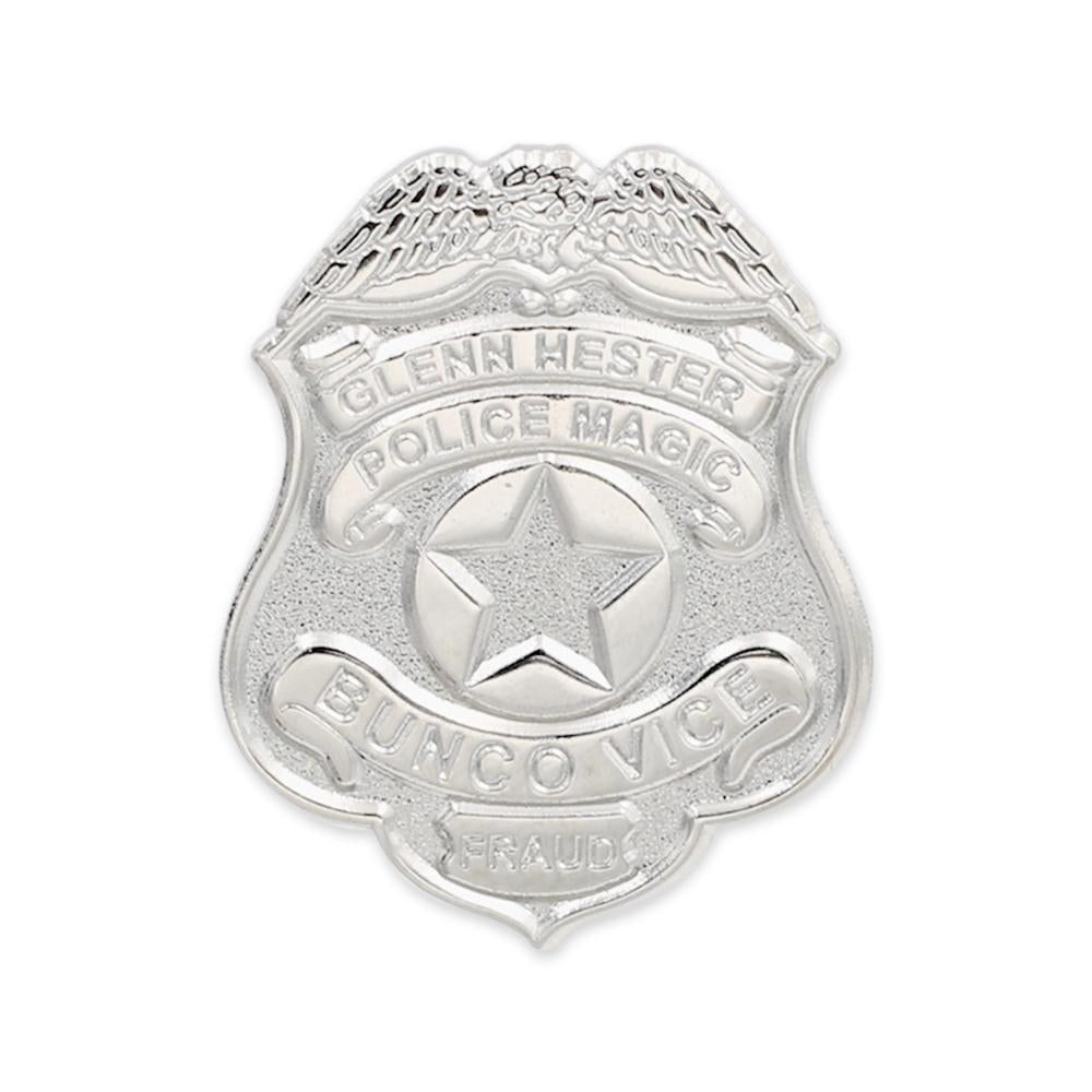 Custom Diestruck Police Badge With Silver Metal Plating