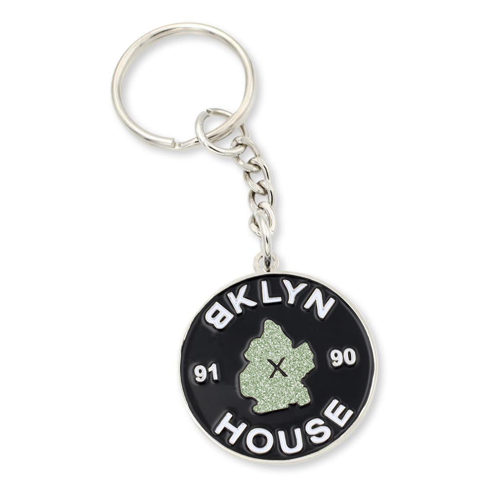 New York City Keychain Custom Enamel Coloring and Silver Plating