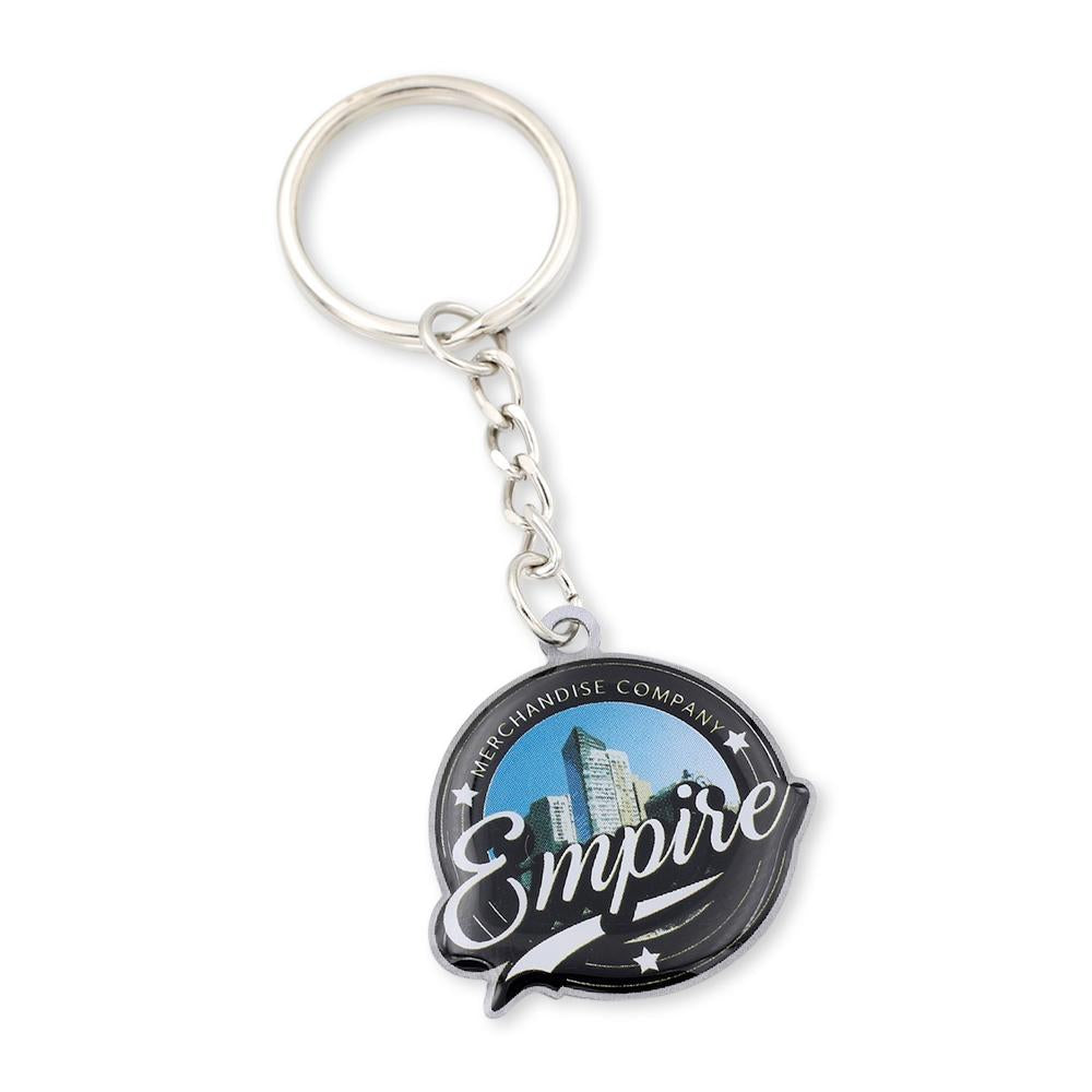 Custom Printed NYC Keychain With Dropchain Attachment