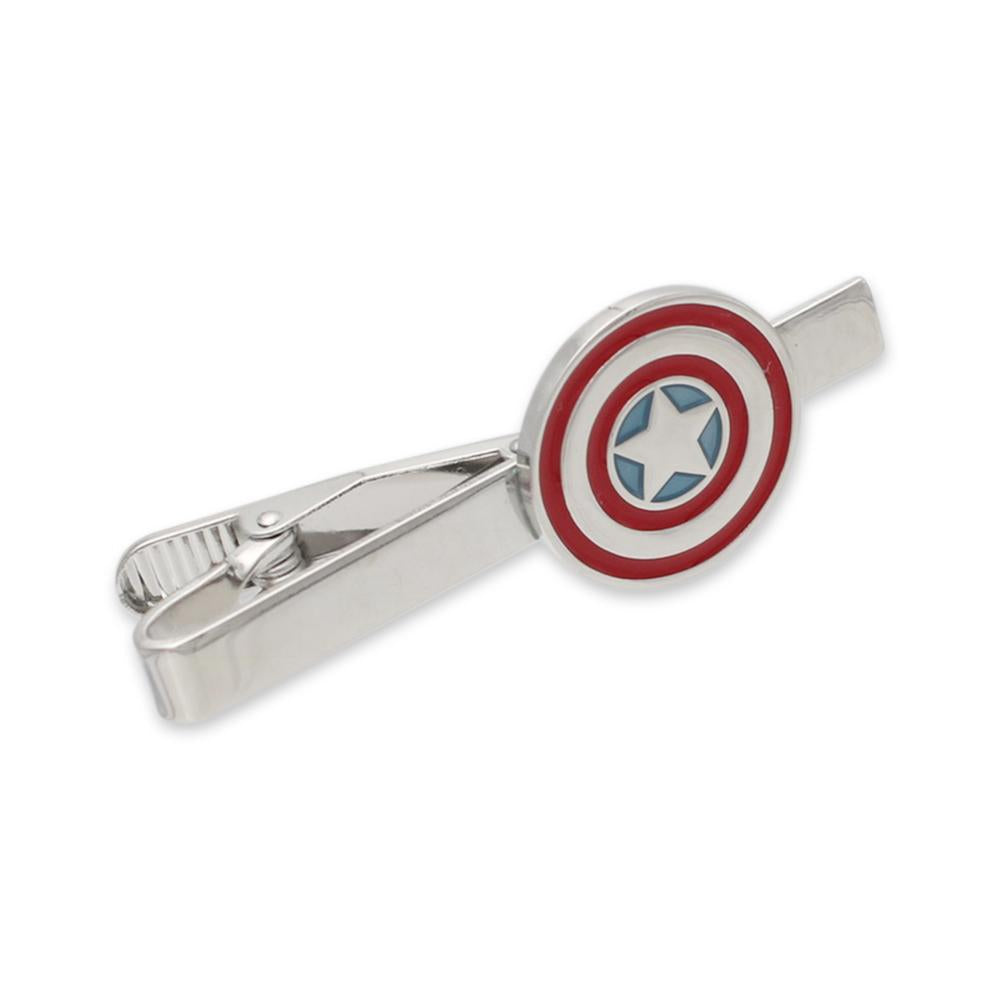 Captain American Inspired Shield American Flag Tie Bar