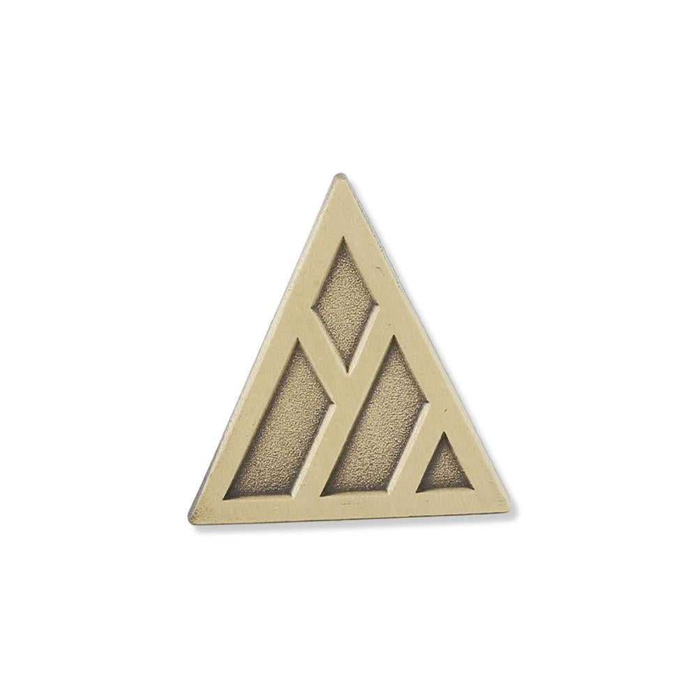 Diestruck antique custom gold plated lapel pin