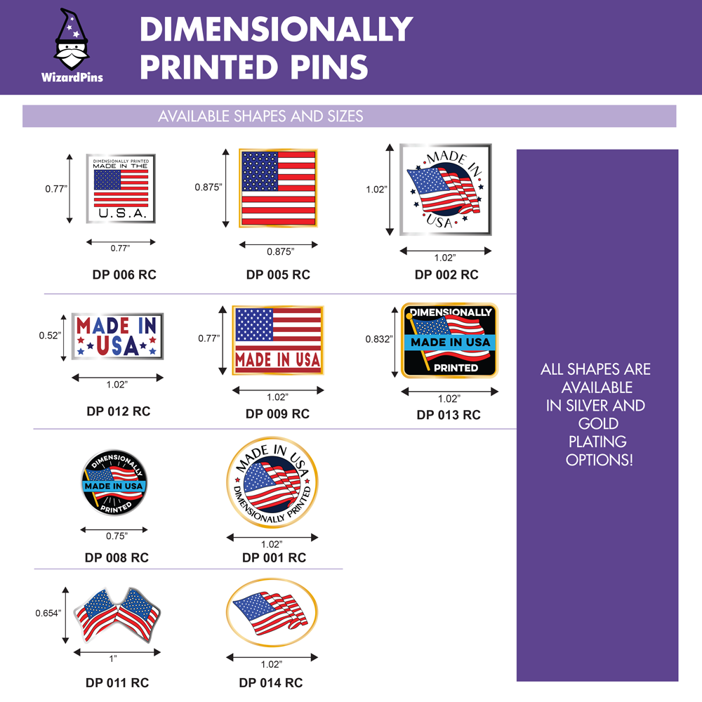 USA Custom Enamel Pins Shapes