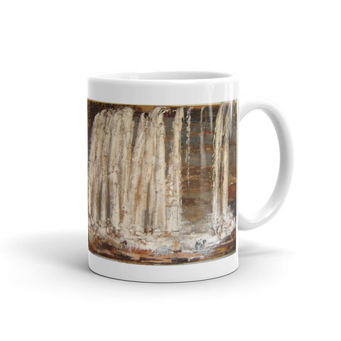 At The Horse Washing Waterfall Ceramic Cup