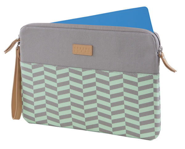 Green Chevron Microsoft Surface Sleeve Clutch