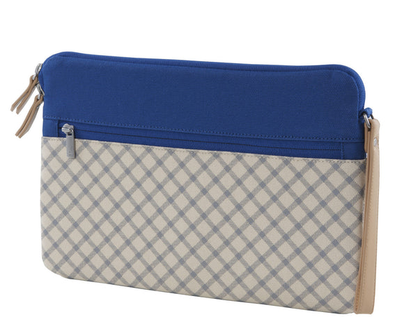 Blue/Taupe Microsoft Surface Sleeve Clutch