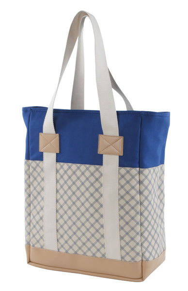 Blue Taupe Laptop Tote