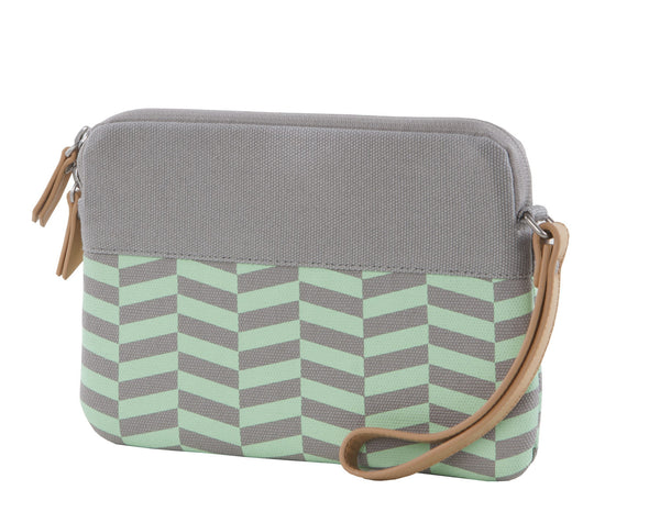 Green Chevron iPad Mini Sleeve Clutch