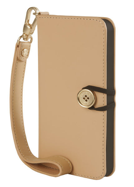 Tan Leather Wallet Case for iPhone 5/5s