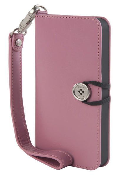 Pink Leather Wallet Case for iPhone 5/5s