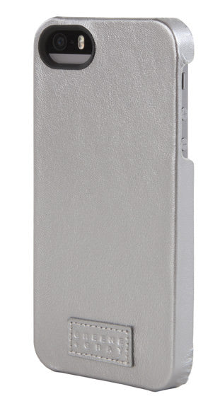 Silver Leather Snap Case for iPhone 5/5s