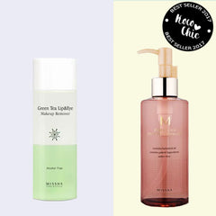 Missha Green Tea Lip & Eye Makeup Remover. Missha M Perfect BB Deep Cleansing Oil best seller koco chic