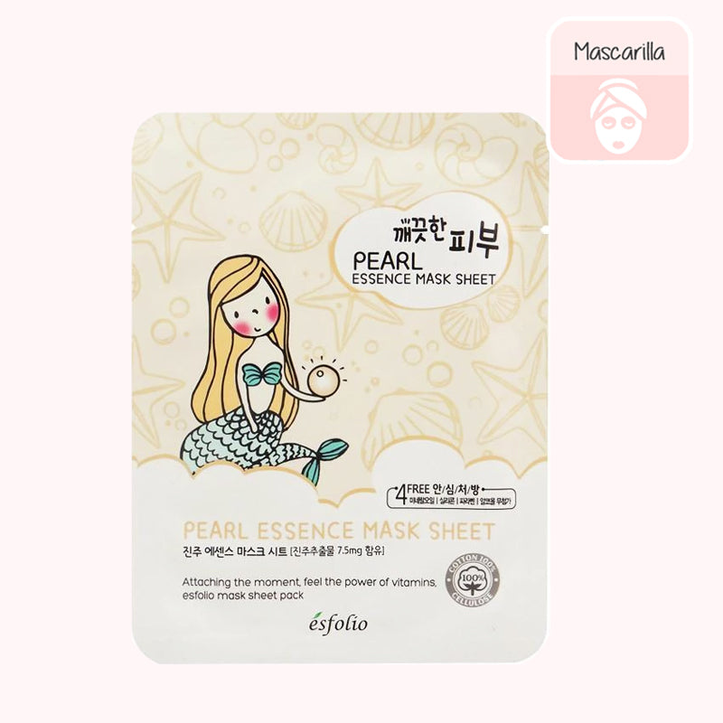 ESFOLIO Pure Skin Essence Mask Sheet (Pearl)