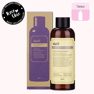 Tónico. Supple Preparation Facial Toner. Marca cosmética coreana. Klairs. Hidrata. Equilibra pH. Piel sensible