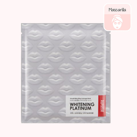 MANEFIT Bling Bling Whitening Platinum Hydrogel Mask. COSMETICA COREANA. KOCO CHIC
