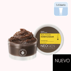 NEOGEN Dermalogy Real Polish Honey and Sugar. exfoliante mecanico. exfoliante azucar moreno y miel. exfoliante neogen. cosmetica coreana. korean cosmetic. kbeauty. koco chic