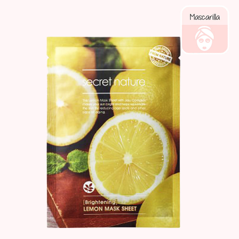 SECRET NATURE Lemon Sheet Mask