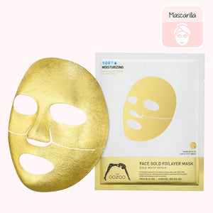 THE OOZOO Face Golden Foilayer Mask. mascarilla. sheetmask. cosmetica coreana. korean cosmetic. koco chic