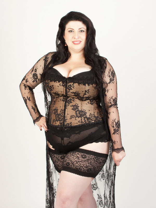 Ladies Stop Thigh Chafing Black Lace