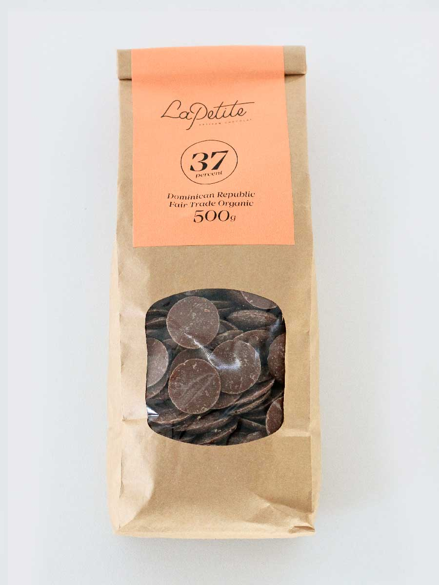 37% Cocoa Milk  Chocolate Couverture - 0.5kg