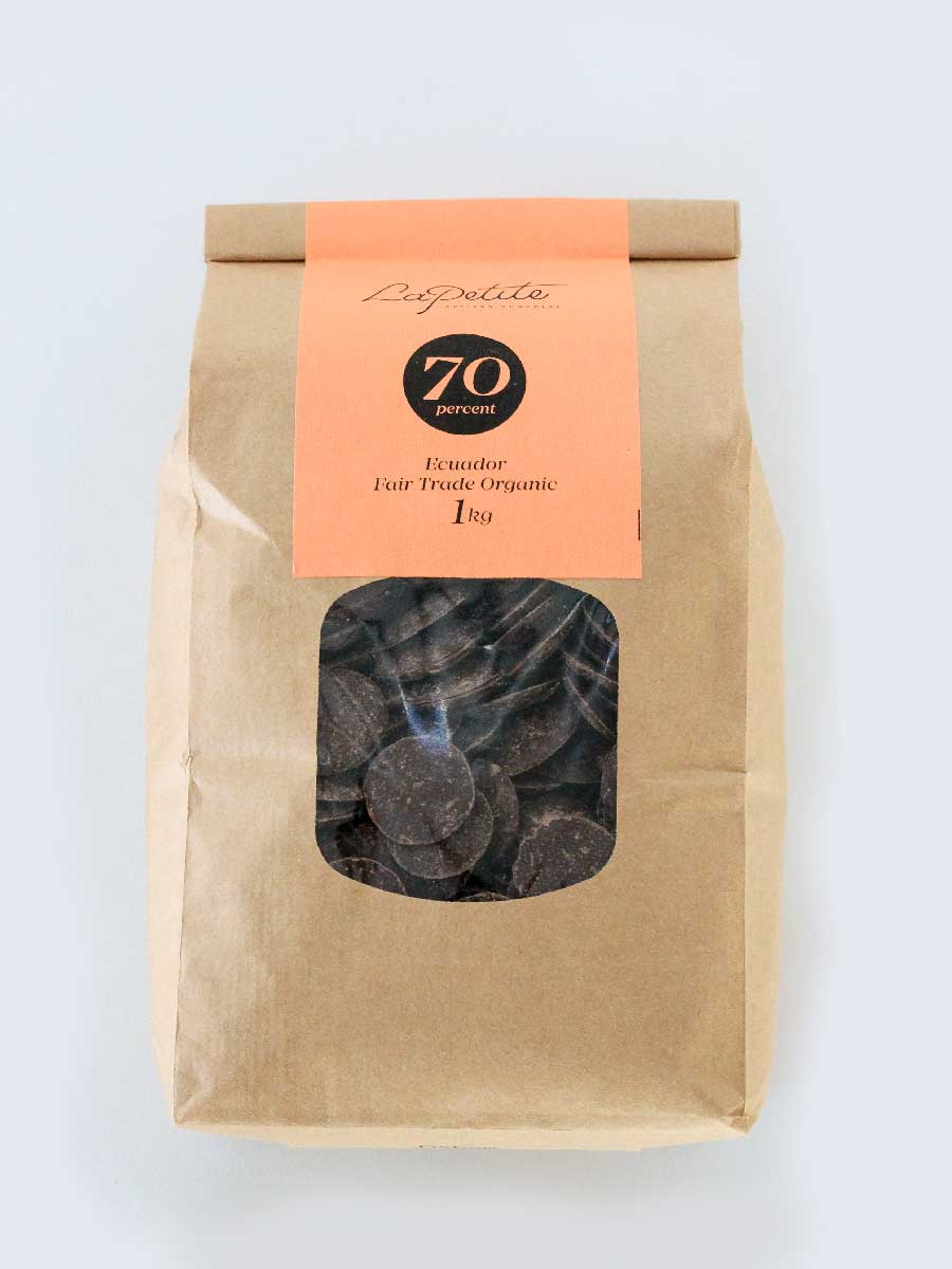 70% Cacoa Dairy Free Chocolate Couverture - 1kg
