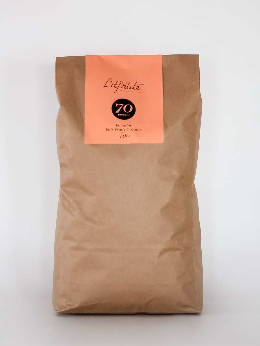 70% Cacoa Dairy Free Chocolate Couverture - 5kg