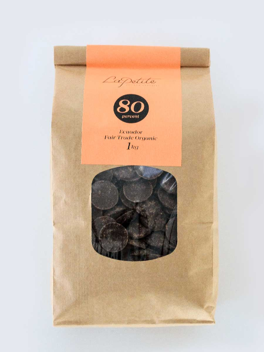 80% Cacoa Dairy Free Chocolate Couverture - 1kg